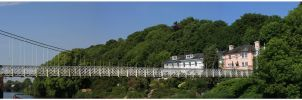 bridge panoramic view by psychodelic-candy