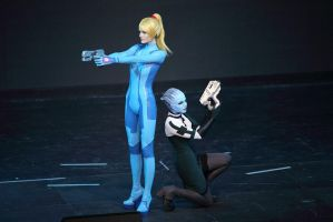 Samus and Liara by Vasya-chan