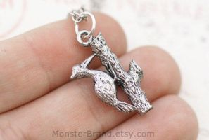 Woodpecker Necklace by MonsterBrandCrafts
