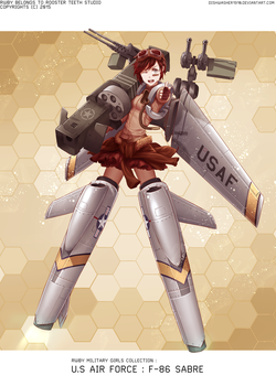 RWBY-Military girl collection : F-86 Sabre by dishwasher1910