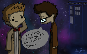 Day 7 - Cosplaying (destiel) by Castielogically