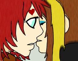Gaara's First Kiss by FallenLunangela
