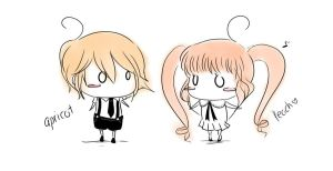 Apricot and Peach CHIBI style by amucchio