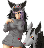 Nilla : Mightyena Hoodie by Line-arts
