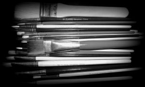 my paint brushes by MarianasABeaner