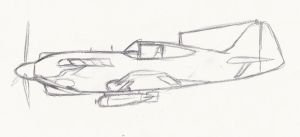 Fighter Concept Sketch by SimonovFox
