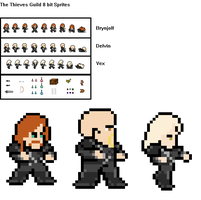 The Thieves Guild 8 bit Sprites -WIP- by Zero-G-Raven