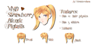 MMD Strawberry Blonde Pigtails by Tehrainbowllama
