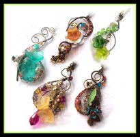 Spring Collection Pendants by DesireeMorte