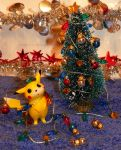 Decorate your Christmas tree, Pikachu! by Bimmi1111