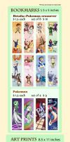 Bookmarks and Prints Catalog for MiniComi 2012 by FrozenSeashell