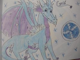 Cyril the ice dragon by IcelectricSpyro