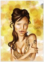 Angelina Jolie Caricature by ricardown