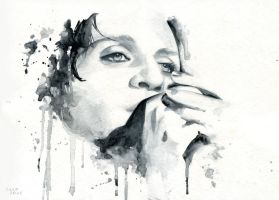 Brian Molko (Ashtray heart) by Cora-Tiana