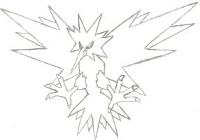 Zapdos Sketch by CoolMan666