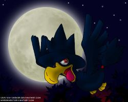 Murkrow by crayon-chewer