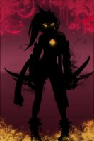 Devlish Rikku iPhone wall by DeviantSith