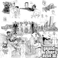 GTA III Sketches by flyingfiesta