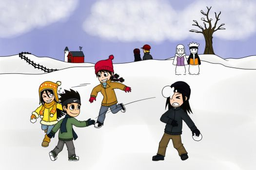 Contest Entry: A Very Hyuuga Snow Day by m2cool
