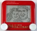 Kiriban couple etch a sketch by pikajane