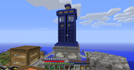 Giant TARDIS Monument / House by AskGriff
