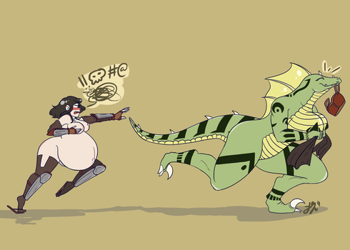 Sonia and Sidur: Catch Me If You Can-Commission by SlickPens