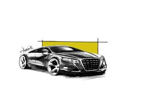 Fast car sketch by denizatasoy