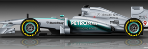 Mercedes F1 W04 by pieczaro