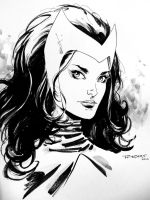 Scarlet witch doodle - SDCC 2014 by aethibert