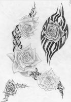 tattoo flower design edited by DiegoCT92