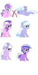Diamond Tiara and CloudChaser shipping adopts by MLPPointsAdoptables