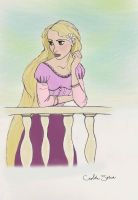 Rapunzel Colored by GoldenSplash