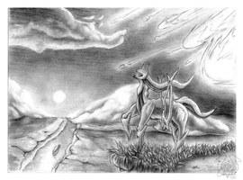 Arceus Pencil by Omegaro
