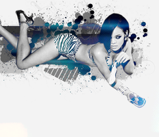 Rihanna Layout by girlnpurple88