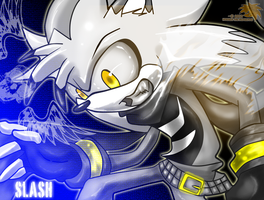 AT:: Slash The hedgehog by SpyxedDemon
