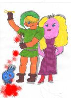 Niggi Link and Niggi Zelda by superlisamcb