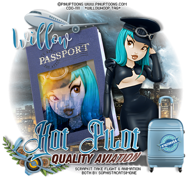 PinUpToons wh hotpilot willow by Willow-Hoop