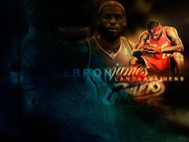 LeBron James Wall by witnessGFX