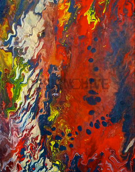 Sekhmet - An Original Abstract Painting by RazzoClimhazzard