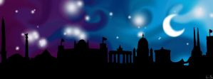 Facebook-Banner ''Berlin Skyline'' by oneBulletForYou