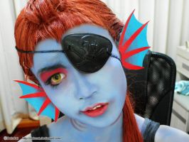 Undertale Undyne Cosplay by DeluCat