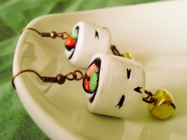 California Roll Sushi Earrings by alexredford