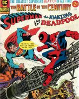 Deadpool vs Superman! by ProjectCornDog