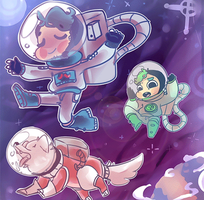 Septiplier and Chica into SpaAaCeee by Cheapcookie