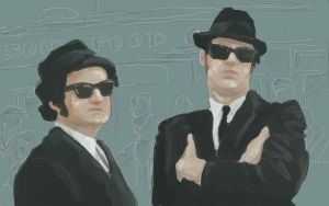 Blues Brothers by LessTalkMoreRokk7