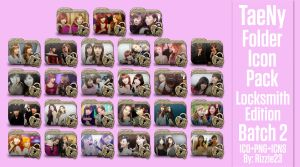 TaeNy Folder Icon Pack 2 (Locksmith Edition) by Rizzie23