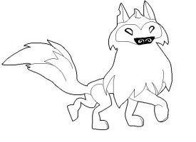 Female artic wolf base by fluffyfluttershy101 on deviantart for Animal jam arctic wolf coloring pages
