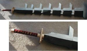 Renji's Sword from Bleach by AmethystArmor