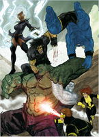 Hulk vs X men by Ultrafpc