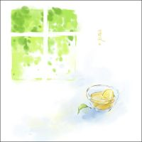 lemon tea in summer by luthienelf